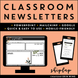 Editable Classroom Newsletter Templates: Shiplap Themed