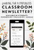 Editable Classroom Newsletter Templates: Shiplap Themed