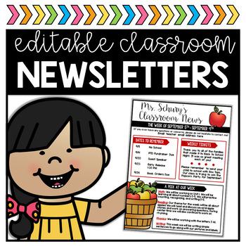 Classroom Newsletters - Editable!