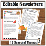 13 Themes and 3 Editable Newsletter Templates per Theme (B