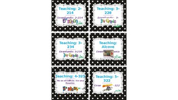 "Editable Classroom/Office Door ""Where Are We?"" Cards"