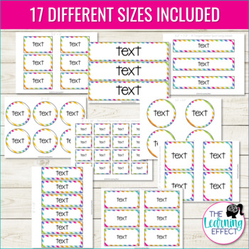 Editable Classroom Organization Labels | Stripes