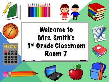 Editable Classroom Welcome Poster Door Sign