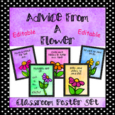 Editable Classroom Poster Set - (Advice From A Flower)