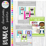 Editable Classroom Posters Bright Colors
