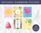 Editable Classroom Posters, Tropical Classroom Decoration