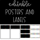 #ausbts18 Editable Classroom Posters and Labels