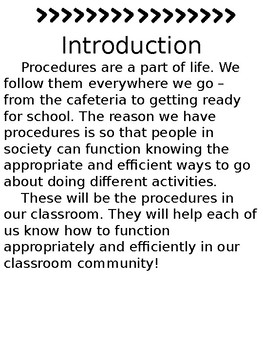 Editable Classroom Procedure Manual