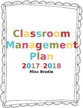 Editable Classroom Procedures