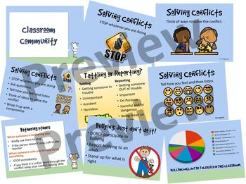 Editable Classroom Procedures: Classroom Community, Conflict Resolution, etc