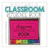 Editable Classroom Reference Mini Book