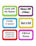 Editable Classroom Rewards Menu