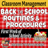 Editable Classroom Routines and Procedures Activity