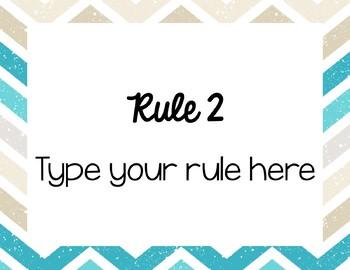 Editable Classroom Rule Signs