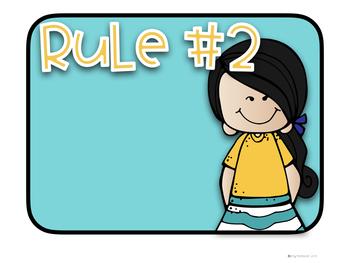 Editable Classroom Rules