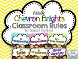 Editable Classroom Rules {Chevron Brights}