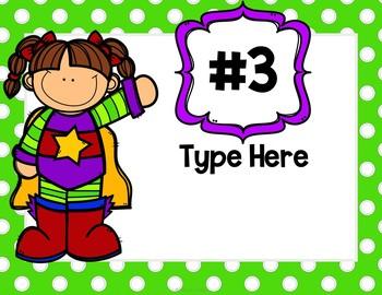 Editable Classroom Rules | Class Rules | Superhero Theme