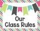 Editable Classroom Rules   Class Rules   Sweet Chic Theme