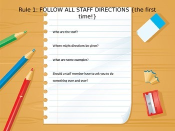 {Editable} Classroom Rules, Expectations, and Procedures
