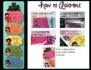 Editable Classroom Rules {Melonheadz Chevron Edition}