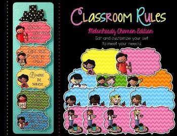 Editable Classroom Rules {Kidlettes Chevron Edition}