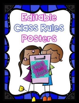 Editable Classroom Rules Posters