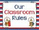 USA Patriotic Classroom Rules - Editable Posters