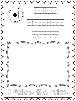 Editable Classroom Rules Posters with Student Booklet