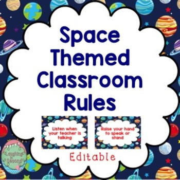 Editable Classroom Rules | Space Theme