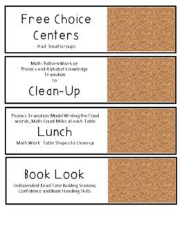 Editable Classroom Schedule