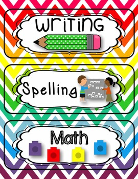 Editable Classroom Schedule Cards {Chevron} by Heidi Neels ...