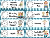 Classroom Schedule Cards (chevron)