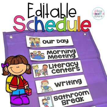 Editable Daily Schedule Cards and Individual Schedule