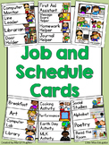 Classroom Schedule and Job Cards BUNDLE