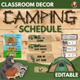 Editable Classroom Schedule and Management Decor Set in Rustic Wood Theme