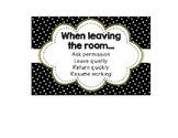 Editable Classroom Setup Signage