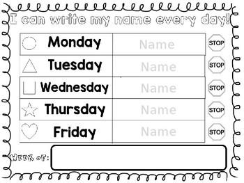 Editable Classroom Sign-In Sheet