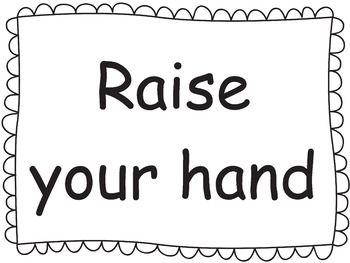 Editable Classroom Sign Templates (1 to 5 lines - Horizontal)