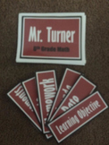 Editable Classroom Signs-Burgundy and White