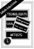 Editable Classroom Subject Labels