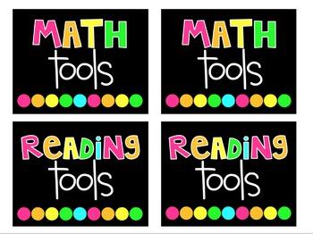Editable Classroom Supply Labels
