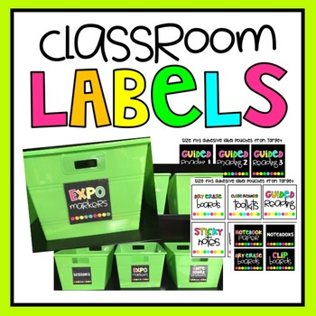 Editable Classroom Supply Labels