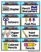 Editable Classroom Supply Labels-Train Theme