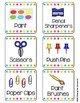 Editable Classroom Supply Labels for Target Square Pocket Labels