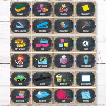 Editable Classroom Supply Labels with Pictures Buralp Chalkboard Classroom Decor