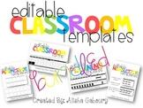 Classroom Templates Bundle [Editable]