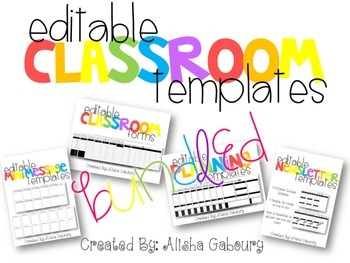 Classroom Templates Bundle [Editable]