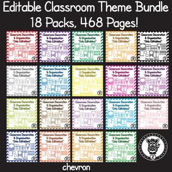 Editable Classroom Theme / Decor / Organization Bundle - A