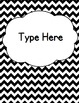 Editable Classroom Theme / Decor / Organization Bundle - Black