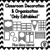 Editable Classroom Theme / Decor / Organization Bundle - Black